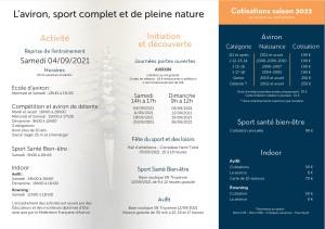 Reprise – 04 Sept 2021 – Saison 2022